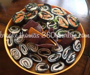 """Fall for Sushi"" Black Rice Turkey Pinwheels"