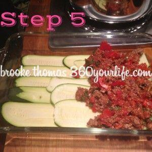 Zucchini Lasagna - step 4 Layering