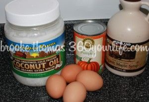 Wet Ingredients for Healthy Harvest Pumpkin Muffins