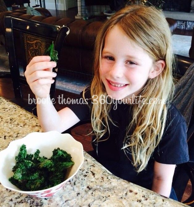 Kale Chips - Riley smiling