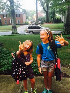 brooke girls first day of school