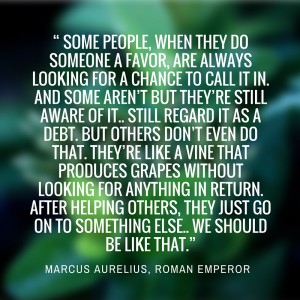 """ some people, when they do someone a favor,"