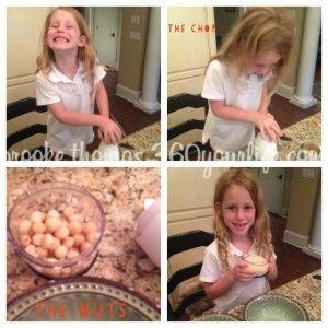 Mahi Mahi Fish collage - Riley chopping nuts