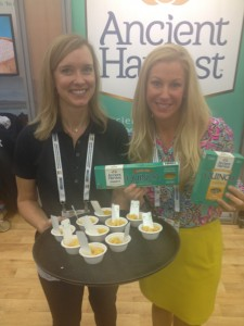 Brooke with Constance Roark, MS RDN and Manager of Brand Strategy and Nutritional Marketing at Ancient Harvest