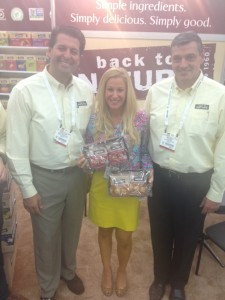 Brooke with Back to Nature's Anthony Raucci, SVP of Sales and Mike McVey, Director of Sales - East