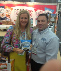Brooke with Mike Ellison, Regional Sales Manager at Beanitos