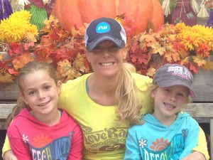 Brooke with Reagan and Riley at the Pumpkin Patch