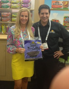 Brooke and her black rice wraps along with Food for Life's Gary Torres at the Natural Products Expo East