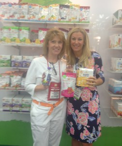 Happy Familys SE Regional Sales Manager, Sunny Hunt with Brooke at the Natural Products Expo East