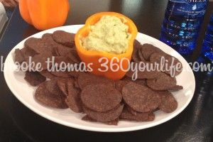 Creamy Cado Dip with Beanitos Black Bean Chips
