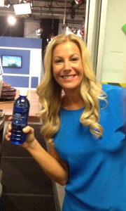 Staying hydrated with Diamond Creek Water while filming today!