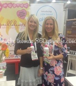 Sparklehearts Co-Founder, Darcy McMahon with Brooke at the Natural Products Expo East