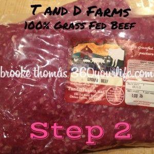 Zucchini Lasagna - step 2 T&D Farms meat pic