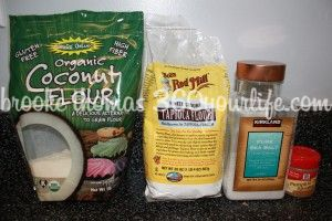 Dry Ingredients for Healthy Harvest Pumpkin Muffins