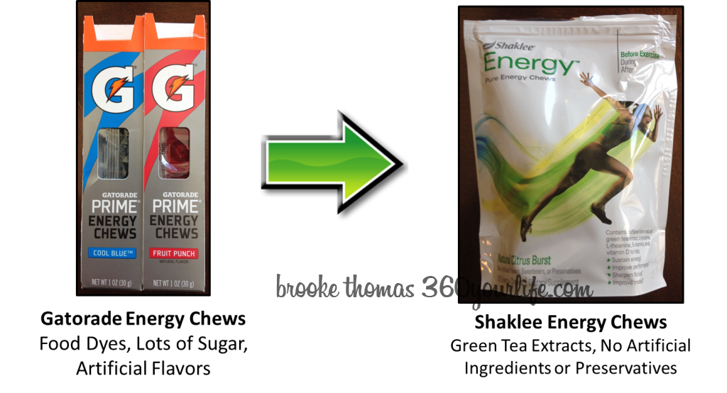 Sports Snacks - Gatorade chews Shaklee chews image