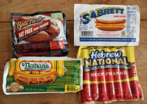 Hot Dogs in packages
