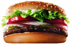 Whopper hamburger