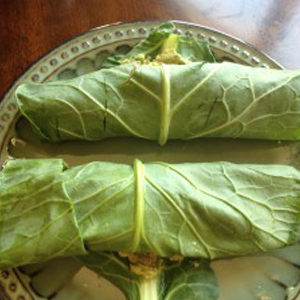 tuna collard wrap
